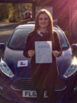 Jessica Vause passed with Peter Hamilton Driving School