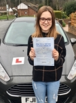 Jodie Jones passed with Peter Hamilton Driving School