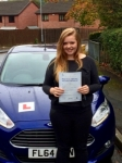 Kate Davies passed with Peter Hamilton Driving School