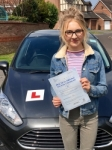 Katie Davies passed with Peter Hamilton Driving School