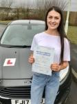 Katie John from Bridgend passed with Peter Hamilton Driving School