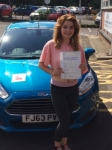 Keshena Dalby passed with Peter Hamilton Driving School
