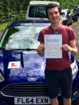 Kristian Wootton passed with Peter Hamilton Driving School