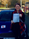 Lauren Jenkinson passed with Peter Hamilton Driving School