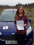 Lauren Neate passed with Peter Hamilton Driving School