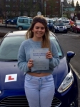 Lauren Pugh passed with Peter Hamilton Driving School