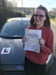 Leah Duckett from Bridgend passed with Peter Hamilton Driving School