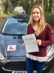 Maya Lewis passed with Peter Hamilton Driving School