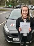 Megan Evans from Bridgend passed with Peter Hamilton Driving School