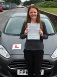 Megan Griffiths passed with Peter Hamilton Driving School