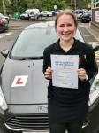 Megan Hooper From Bridgend passed with Peter Hamilton Driving School