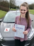 Megan Parsons From Pencoed passed with Peter Hamilton Driving School