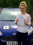 Megan Webster passed with Peter Hamilton Driving School