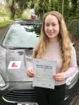 Melissa Payne From Bridgend passed with Peter Hamilton Driving School