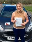 Natasha Long passed with Peter Hamilton Driving School