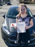Niamh OBrien from Bridgend passed with Peter Hamilton Driving School