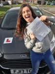 Nicole Pritchard from Pencoed passed with Peter Hamilton Driving School