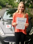 Pheobe Lewis passed with Peter Hamilton Driving School