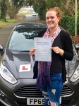 Rachel Glastonbury passed with Peter Hamilton Driving School
