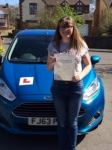 Rebecca Chick passed with Peter Hamilton Driving School