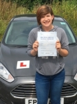 Rebecca Jones passed with Peter Hamilton Driving School