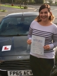 Rebecca Tuck passed with Peter Hamilton Driving School