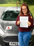 Rhiannon Reed passed with Peter Hamilton Driving School