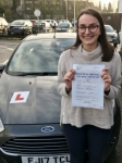 Sophie Joans from Bridgend passed with Peter Hamilton Driving School