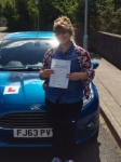 Starr Evans passed with Peter Hamilton Driving School