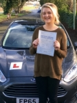 Tyler Weaver passed with Peter Hamilton Driving School