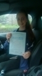 Leah passed with Pass With Phil Driving School