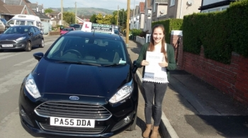 Becky Mitchell thrilled to be holding her Pass Certificate after passing her test today with only 3 driving faults.  Becky was a pleasure to teach managing to fit in her lessons with her busy schedule.  She joins her sister Megan, and brother Thomas all doing so well learning and passing with Salvina.  Congratulations and well done again.  Good luc...