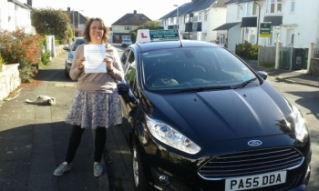 Emma Lewis absolutely thrilled to be holding her Pass Certificate after passing today.  Emma persevered well, took on board Salvina´s advice and conquered those test nerves to produce a drive with few driver faults.  A result from sheer determination and mastering those manoeuvres and independent driving. Well done and congratulations again. ...