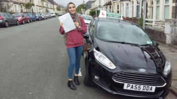 Fatima Omani thrilled to be holding her Pass Certificate following passing her Driving Test today.  A fantastic achievement and drive with only 2 driver faults.  Congratulations and well done again. Keep safe  Salvina Drivewell Driving Academy 29th June 2017....