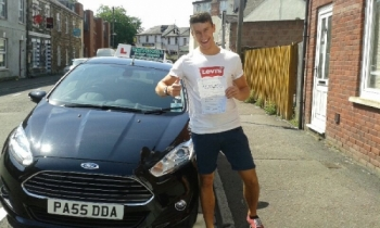 Josh Berkeley proudly holding his Pass Certificate today after a brilliant drive with only 2 driver faults. A great result from taking learning seriously, listening to Salvina and working hard. Congratulations and well done again. Salvina 5th August 2014...