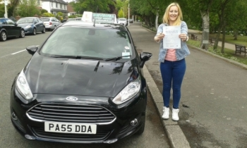 Kirsty Pannu clearly delighted to be holding her Pass certificate after passing her test first time today.  An excellent safe, confident drive with only 2 driver faults.  A well deserved result following such a positive attitude to both learning and continuously striving to improve on lessons.  Congratulations and well done again.  Enjoy your drivi...