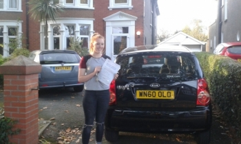 Molly Dacey holding her Pass Certificate after passing her Driving Test Today.  She is absolutely delighted as the DVSA moved her test at short notice and Drivewell Driving Academy were unable to take her.  She drove a family car that she had never driven before and did outstandingly well producing a good, safe drive with only 3 driver faults.  Enj...