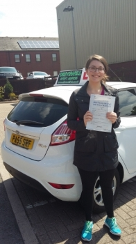 Stephanie Harkin absolutely delighted to holding her Pass Certificate after passing her test first time today with few driver faults.  Stephie thoroughly deserved this result as a result of all her perseverance, never giving up and mastering those manoeuvres and phobia of succeeding in practical tests.  Good luck and enjoy driving your little red c...