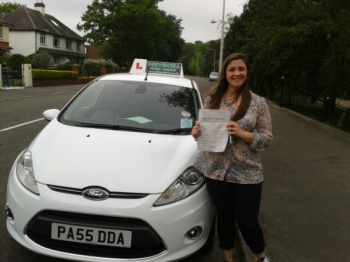 Proudly holding her Pass Certificatev after passing first time today. A well deserved result having combined lessons with a busy working schedule and showing great enthusiasm.  Another great success for Drivewell and Salvina.  Congratulations again. Look forward to seeing you for Pass Plus.  Good luck for enjoyable safe driving. 6th June 2013  ....