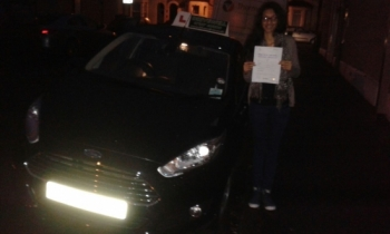 Dipika Patel delighted to be holding her Pass Certificate after passing fIrst time today.     It was almost dark on a wintery afternoon. A super drive with only 3 driver faults. A great achievement from hard work, taking learning seriously and listening to Salvina.     Congratulations and well done again. Enjoy  your driving and keep safe. Hope...