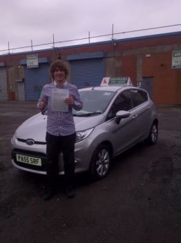 Proudly holding his Pass Certificate after a very safe drive with 2 driver faults. OCT 2012...