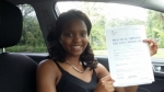 Annie Chirambo passed with Drivewell Driving Academy