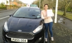 Aoife McDermott passed with Drivewell Driving Academy