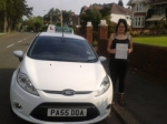 Bethan Disney passed with Drivewell Driving Academy