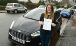 Natalie Vaughan passed with Drivewell Driving Academy