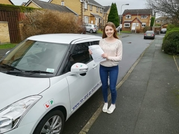 I would like to say a massive thank you to Stuart for giving me the confidence I needed to pass my test first time. He was extremely patient but also made me feel at ease if I was nervous/made a mistake at all. He was also great at calming my nerves on the day of my test and I don`t think I would have passed if I`d have gone with any other instruct...