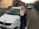 Jessica Jarrett - Birstal passed with Rev and Go Automatic Driving School