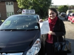 Criselle passed with Ray Lowe School Of Motoring