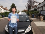 James Kraven passed with Ray Lowe School Of Motoring