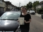Evie passed with Ray Lowe School Of Motoring